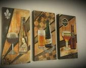 Custom Original Painting - Belgian Beer Series for Chris the Beer Ambassador
