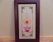 Orchids Cross Stitch Framed