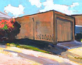 North Park Bougainvillea-  San Diego Landscape Painting