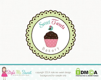 bakery logo design cupcake logo design bakers logo design graphic design premade logo design bespoke logo design watermark logo branding