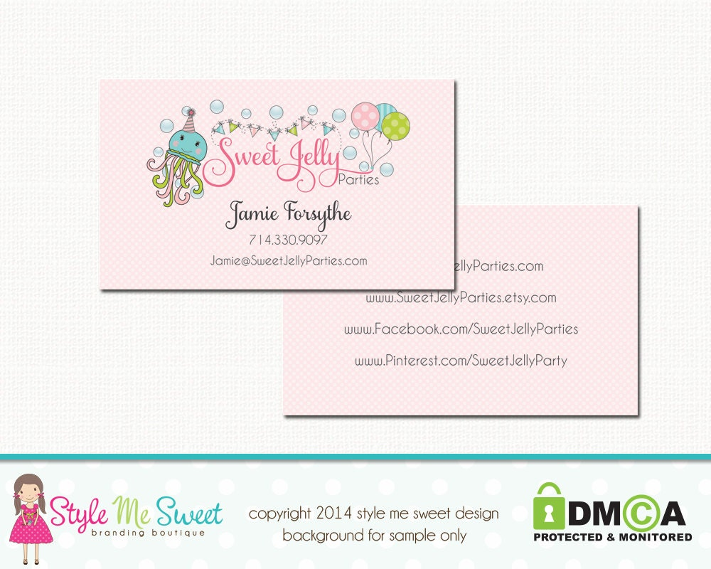Custom Business Card Design & Etsy Shop by stylemesweetdesign