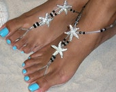 Happi Feet - barefoot sandals - beach wedding barefoot sandal - destination wedding - barefoot sandal - Swarovski sandals The Estelle HF104