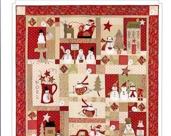 Bunny Hill Designs Merry Merry Snowmen BOM/9 month Quilt Pattern
