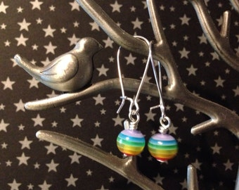 Rainbow Dangle Earrings