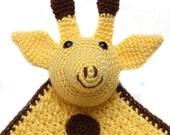 Crochet Giraffe Security Blanket Lovey - Ready to Ship
