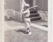 Baseball Kid Lot of 2 - Vintage Photograph - Antique Photo