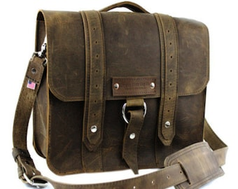 "10"" Brooklyn Distressed Tan Safari iPad Tablet Bag - 10-V-DIS-LAP"