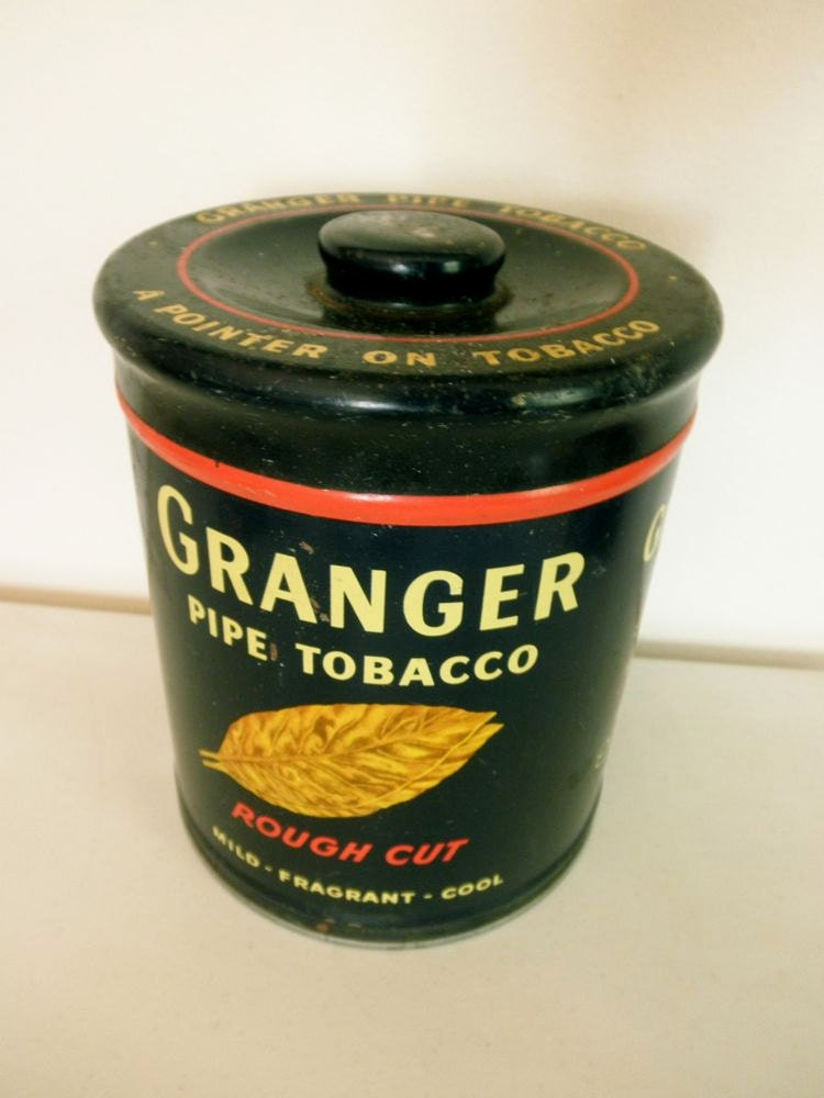 1920s Granger Pipe Tobacco Humidor Collectible Tin Rough