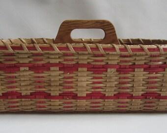 Silverware-Paper Plate Basket-Divided Carrier Picnic Basket-Organizer-Storage Basket