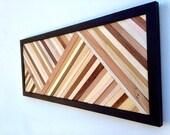 Wood Wall Art - Wood Art Sculpture - Reclaimed Wood Art Modern Wall Art/Abstract Sculpture