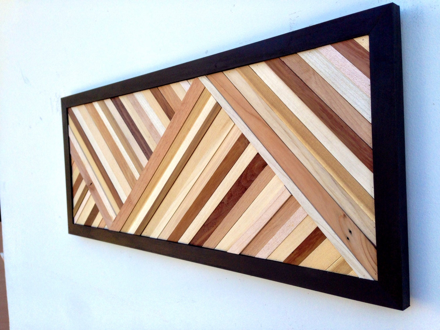 Contemporary Wood Wall Decor : Wood wall art sculpture reclaimed modern