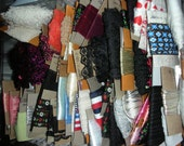 100+ Yards of Vintage Ribbons, Trims and Laces Various Colors and Patterns