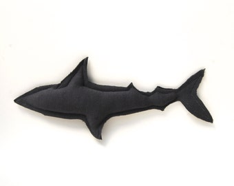 Shark Plush - Gray - Stuffed Toy - Organic Toy - Upcycled - Eco Friendly -  Ocean - Hawaii - Gift for Boys