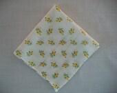 Sunny Delight, Vintage Yellow Rosebud Handkerchief