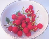 Wool Needle Felted Cherries