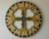 """24"""" x 24"""" Primitive Wood Carnival Wheel, Roulette Wheel, Folk Art Game Board, Primitive Gameboard"""