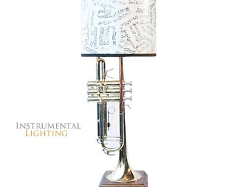 Trumpet Lamp & Sheet Music Lamp Shade - Square Base