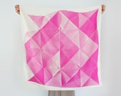 Free Shipping Worldwide - Folded Paper furoshiki (pink) Japanese eco wrapping textile/scarf, handmade in Japan