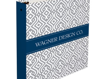 Personalized Binder- Custom Business 3 Ring Binder - Monogrammed 3 Ring Binder - Monogram Binder/ Organizer
