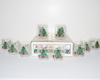 Vintage Christmas Glasses Luminarc ........Twelve