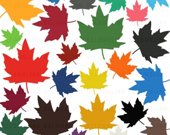 Maple Leaf Digital Clip Art Commercial Use - Instant Download  - DP265