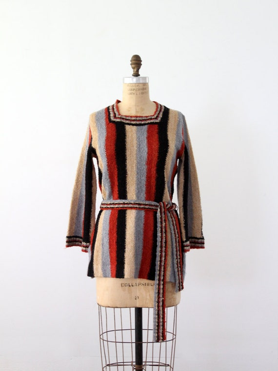1970s hippie sweater, knit tunic