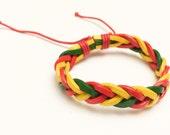 Bob Marley Braided leather Bracelet