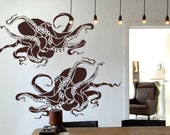 Octopus Stencil for Walls - Octopus No. 2 - Large, Reusable stencil for DIY Home Decor - original wall art