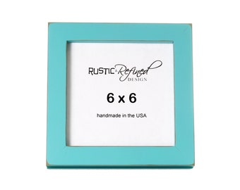 "6x6 Gallery 1"" picture frame with - Turquoise"