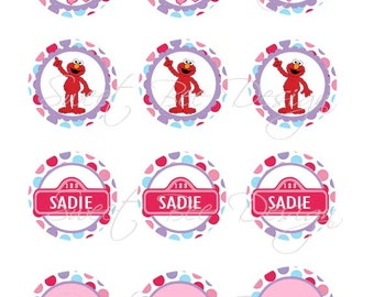Abby Cadabby Cupcake Toppers. Abby Cadabby Favor Tags, Abby Cadabby Birthday- Custom Printable