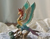 Vintage Simurgh Mythical Flying Bird Enchanted Mountain Fantasy Xanth Franklin Mint 1989