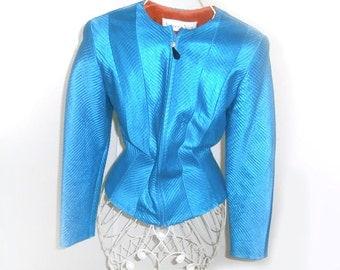 Gorgeous Vintage Turquoise Jacket  size Medium