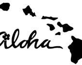 Aloha Vinyl Decal F4