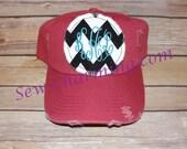 Chevron Fray Initial Hat