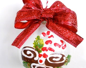 "Yummy Sticky Cinnamon Buns 3"" ornament"