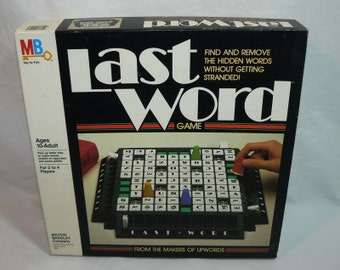 1985 Last Word Game Hidden Word Crossword Grid Strategy - Milton Bradley - Complete