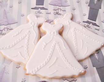 Wedding Gown cookie favors