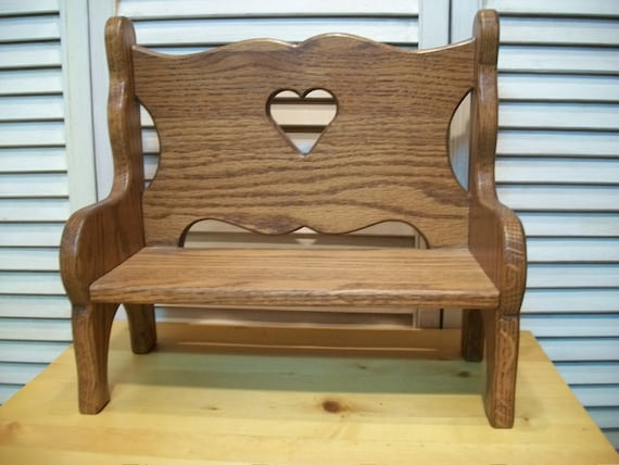 Doll Bench Small Decorative Wood Bench Doll Furniture Home