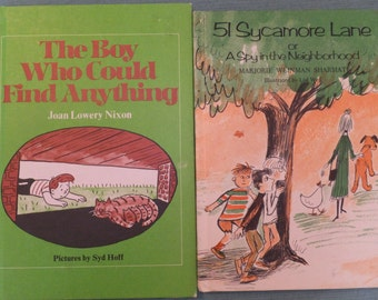Vintage Children's Books Lot of Two The Boy Who Could Find Anything and 51 Sycamore Lane