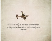 Fire plane photography, quote print, firefighter plane