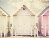 pastels, beach huts, Mersea, Travel, Seaside, Beach, Summer, fPOE, Gift Idea, Home Decor, Fine Art Photography Image