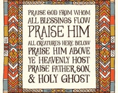 "Doxology ""Praise God from whom all blessings flow"" Art print - muted color palette"