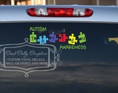 Personalized Autism awarness vinyl decal