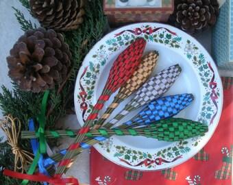 Lavender Wands - Christmas Decor Quintet (5) Medium Size Assorted Colors