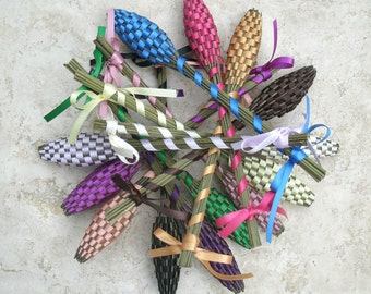 Lavender Wands One Of Each Color Rainbow (30) Small English Lavender Batons Wholesale FREE SHIPPING USA