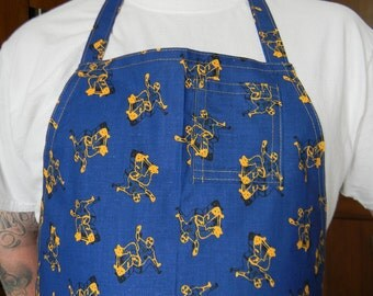 Mens Butcher Style Apron with Skateboarder Print
