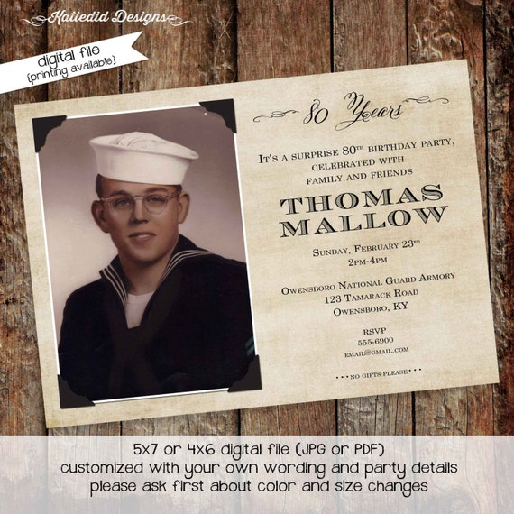 adult birthday party invitations retirement surprise baptism birth announcement graduation memorial coed (item 275) shabby chic invitations