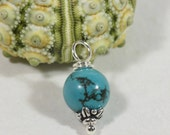 Natural Turquoise Beads 8 mm Wire Wrapped Head Pin Silver wire