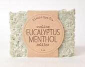 Salt Soap Bar | Eucalyptus Menthol | 5 oz | Baby Shower Favor | Bridal Shower | Wedding | Thank You | Bridesmaid | Hostess | Housewarming