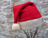 Up-cycled Cashmere Santa Hat for Baby